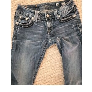 Miss Me sz 26 boot cut jeans used tattered hems